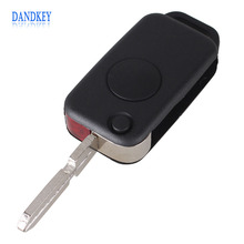 Dandkey 1 Button Flip Folding Keyless Entry Remote Key Fob Case Shell for Mercedes Benz C E S ML SL ML55 AMG S500 SL500