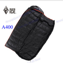 2015 new arrival Black Ice A400 high quality white DUCK down Hybrid Sring outdoor camping sleeping bag(China)
