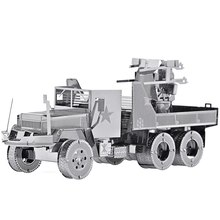 3D Metal Nano Puzzle M35 Military Motor Lorry Truck Model Kits P034-S DIY 3D Laser Cut Assemble Building Jigsaw Toys(China)