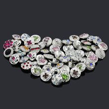 Buy 60pcs/lot Rhinestone Stone Mix Style Metal Snap Buttons Replaceable Buttons Jewelry fit 12mm DIY Snap Bracelet Wholesale for $7.99 in AliExpress store
