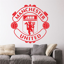football club logo wall decals for kids room decoration removable vinyl decals art sports fans gift(China)