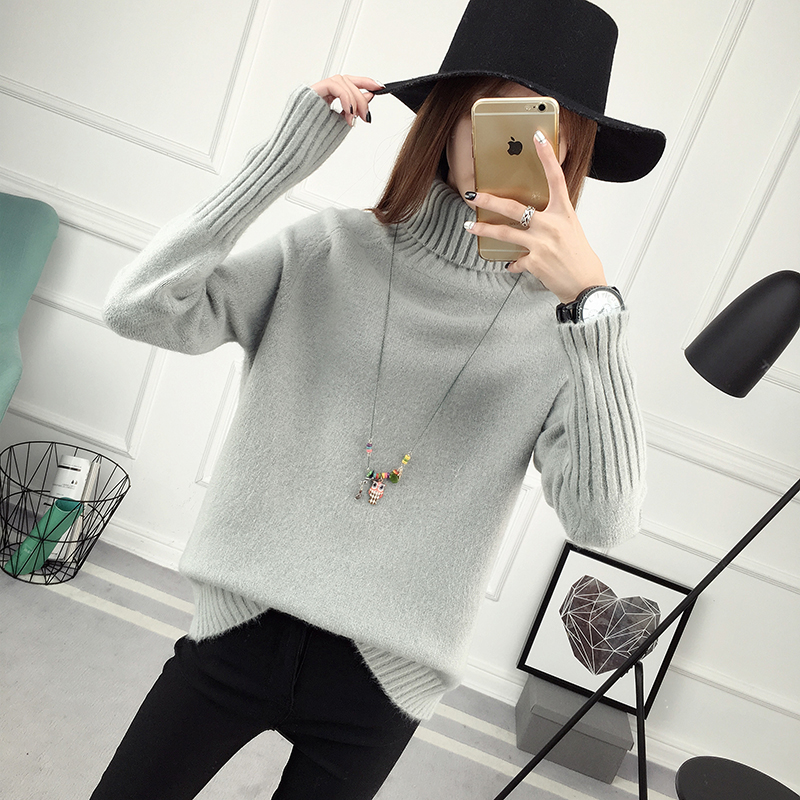 Winter Turtleneck Sweater, Women's 2017 New Design Thick Pullover 30