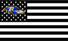 Baltimore Ravens US stars with black and white stripes Flag 3FTx5FT Banner 100D Polyester flag 90x150cm(China)