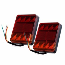 CYAN SOIL BAY 2X 8 LED Car Truck Rear Tail Warning Lights Rear Lamps Waterproof Tailights Parts for Trailer Boat 12V RV Caravans(China)