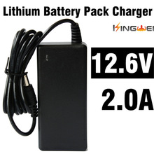 1pcs KingWei  Adapter DC 12.6V 2A AC 100-240V Converter Adapter 18650 Lithium Battery Charger Power Supply EU UK US Plug Black