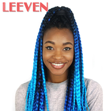 Leeven 24inch 100g Kanekalon Ombre Braiding Hair Extension Synthetic Crochet  Jumbo Braids Hair DIY Hairstyle 2PCS/lot