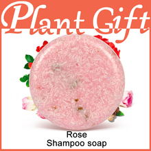 55G Natural Rose Essential Oil Shampoo Plant Moisturizing Repair Glossy Moisturizing Dandruff Detoxation Care Hair