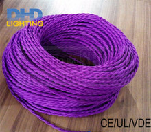 8m/lot 2*0.75 Copper Cloth Covered Wire Vintage Style Edison Light Lamp Cord Grip Twisted Fabric Lighting Flex Electric Cable(China)