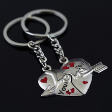 Manufacturers Selling Quality Silver Plated Pendant Keychain Gift To Lover Friends Girlfriends Parents Relatives Fashion Jewelry(China)
