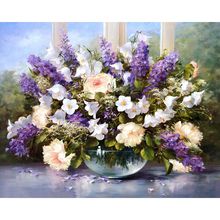 No Frame Lavender Flower DIY Painting By Numbers Modern Oil Painting Home Decor Handpainted Unique Gift For Wedding Decoration