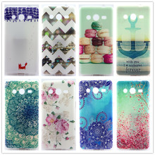 Soft TPU Case For Samsung Galaxy core 2 core2 G355H G355 Pattern Slim Back Protect Skin Rubber Phone Cover Silicone Gel Case