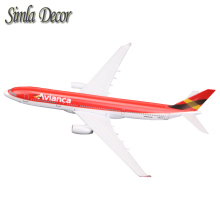 16cm Colombia Airways A330 Airlines Plane Model Airbus Airplane Model Stand Aircraft Room Decoration(China)