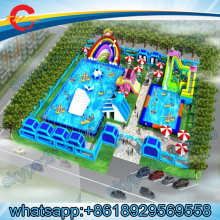 FREE SEA SHIPPING/CNF TERMS,giant  inflatable  water park,inflatable amusement park,aquapark inflatable water games