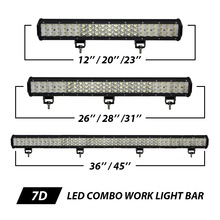 "Free Shipping Cree Chips LED Combo Work Light Bar 12"" 20"" 23"" 26"" 28"" 31""36""45"" External Car Lamp DRL Truck SUV ATV 4WD 4x4 12V"