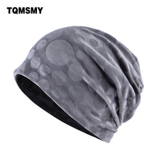 TQMSMY Brand bone flannel hat women winter beanies girls double layer turban hats scarf dual-use caps for women's autumn gorros(China)