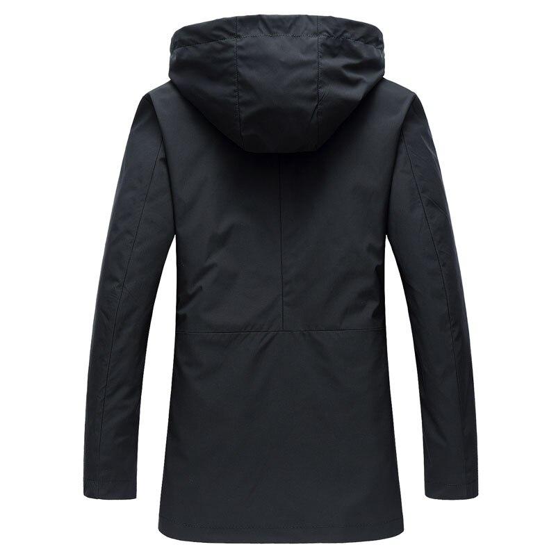 2017 Spring/Autumn Casual Masculino Casacos Mens Silm Fit Jacket Long Hooded Trench Coat Men Fashion Balck  Jaqueta Masculinas