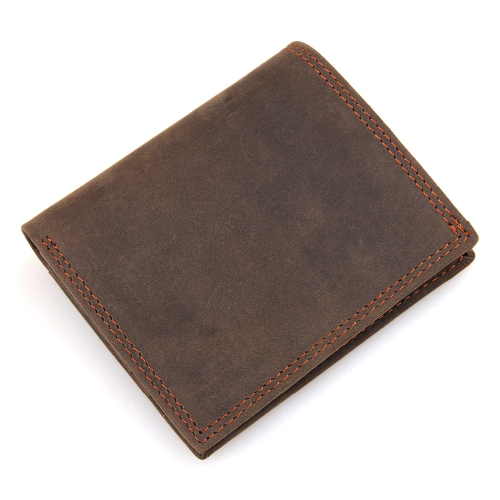 Genuine Leather Wallet For Mens Card Case Bifold Purse Cow Leather Card Hoder 8144R<br><br>Aliexpress