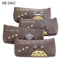 Kawaii Japan Totoro School Pencil Bag Students Pen Case Girls Cosmetics Purse Bag Wallet Coin Purse Stationery Promotional Gift