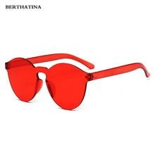 5d8b9e416616f 2018 Nova Moda Óculos Sem Aro Do Vintage Espelho Redondo óculos de Sol  Coloridos Mulheres de