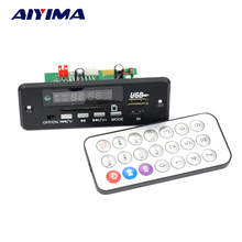 Aiyima 12V Bluetooth MP3 WAV audio decoder board with switch AUX 5P board hands-free calling(China)