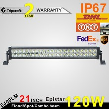 Popular 10200lm 120W LED OFFROAD LIGHT BAR Reflector Cup Vehicle SUV Heavy Duty Work Lamp offroad aluminum Led Light Bar