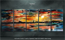 Original  Modern sunset / Sunset infinite good  Metal Art Abstract Sculpture Wall Painting Special  Indoor Outdoor Decor