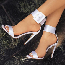 New Fashion Women Sandals Hot Buckle ankle strap Pump High Heels Shoes Fish Mouth style 4 Colors Plus size TR914845