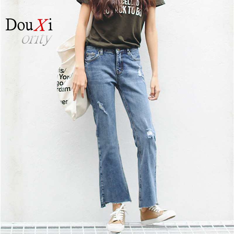 distressed jeans women 2017 New Slim Vintage High Waist Jeans womens pants loose cowboy pants ripped jeans for women Одежда и ак�е��уары<br><br><br>Aliexpress