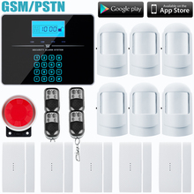 Wireless/wired Phone SIM GSM PSTN Home Burglar Security GSM Alarm System English Russian Voice Prompt Alarm Sensor kit