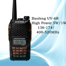 7W New baofeng uv-6r Scanneres walkie talkie VHF/UHF 136-174MHz/400-520MHz hf transceiver cb DTMF CTCSS cb comunicador handy