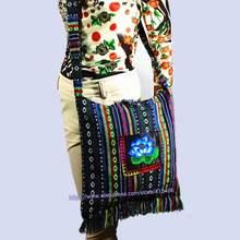 95790ac22135 Vintage Hmong Tribal Ethnic Thai Indian Boho shoulder bag message bag linen  handmade embroidery Tapestry SYS