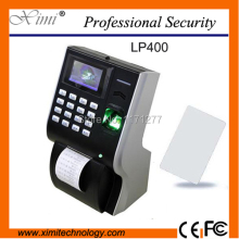 Free shipping LP400 free sofware TCP/IP IC card reader satanalone with thermal printer biometric fingerprint time attendance(China)