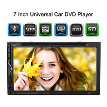 7 Inch HD TFT Color Display Universal 2 Din Car DVD/USB/SD/MP4 Player RDS UI Bluetooth FM/AM Radio Car Audio Entertainment(China)