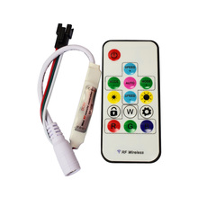 DC5V/12V Wireless RF LED RGB Controller 14 Key RGB 300 Kinds of Changes Effects for WS2812B WS2811 LED Strip(China)