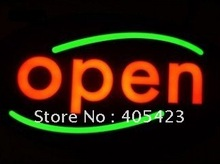 good quality 430X230mm can design and customer-made EPOXY open LED light sign