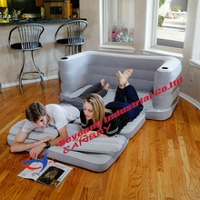 Bestway Multi Max Queen Size Inflatable Couch Bed Sleeping Mattress With Cup holders,Pillow Cushion