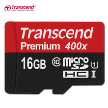 Genuine Original Transcend MicroSD MicroSDHC 16GB TF Card Class 10 UHS-1 Memory Card for Smartphone