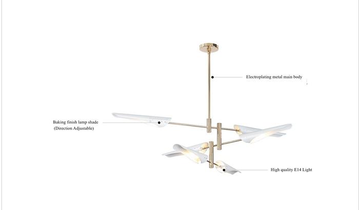 LukLoy Post Modern Metal Branch Chandelier Nordic Hanging Lamp Light Lighting Fixture Creative Personality LED Pendant Light (2)