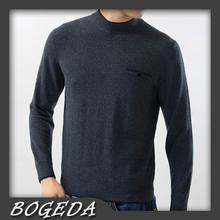 Pure Cashmere Sweater For Men Winter Pullover Solid Dark Gray Casual High Quality Natural fabric Free shipping Stock Clearance(China)