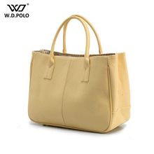 WDPOLO new women tote handbags high quality cheap women beach bag lady shopping bags modern female tote with cloth inside C361(China)