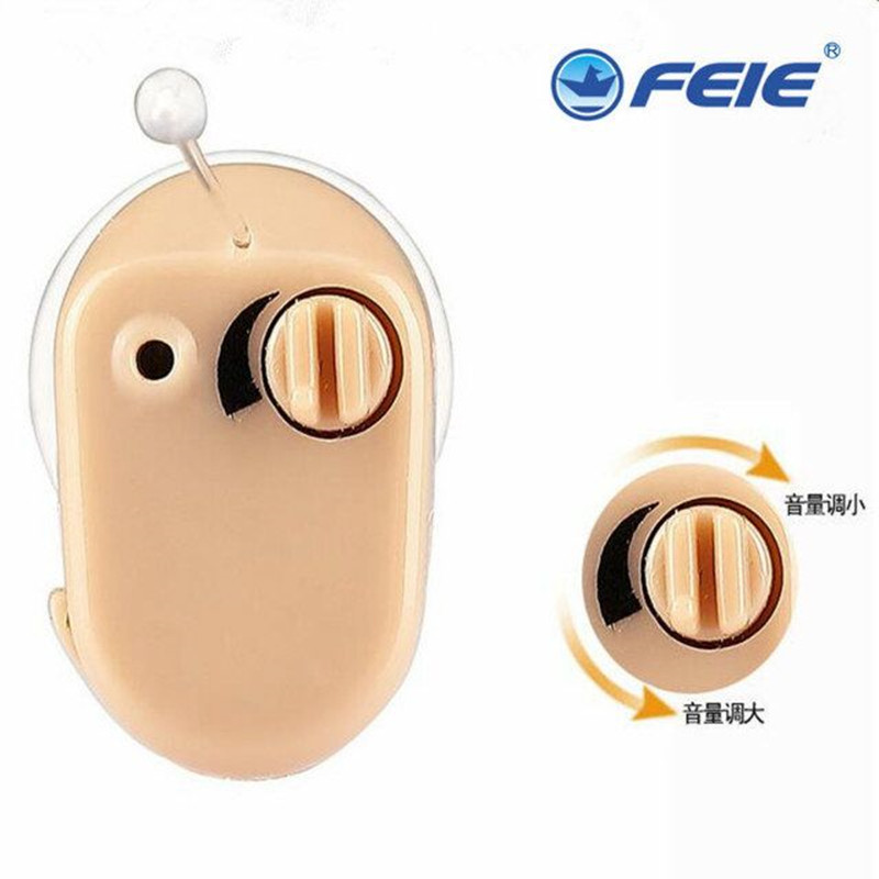 Earmold inner mini Hearing Aid Voice Volume Adjustable Sound Amplifier for mild to moderate Hearing Loss Machine with Earplugs<br>