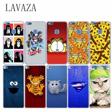 funny cat in space Hard Case for Huawei P10 P9 P8 Lite Plus P7 P6 G7 Honor 8 Lite 4X 4C 7 6 COVER