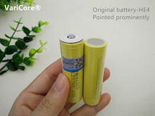 VariCore 3pcs original HE4 2500mah 18650 battery tip prominent 3.7v for LG power battery 20a 35a download power tool battery