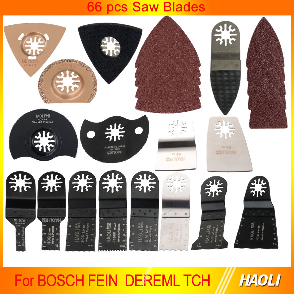 66 pcs oscillating tool saw blades for renovator power tools as Fein multimaster,Dremel,electric tools accessories<br><br>Aliexpress