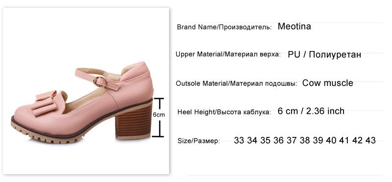 HTB114MmRFXXXXXCXFXXq6xXFXXXc - Meotina Women Pumps Lolita Shoes Platform High Heels Pink Shoes Bow Mary Jane Ladies Sweet Party Shoes Size 33-43 Zapatos Mujer