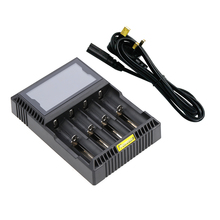 4 Slot Digital LCD Intelligent Battery Charger for Rechargeable LiFePO4 Ni-MH/Ni-Cd AA/AAA Li-ion 26650/22650/18650