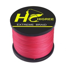 HGyikun Braided Line Carp Fishing Tackles 1000m 4 Stands 100% PE Janpanese Material Linha Multifilamento Red fishing line