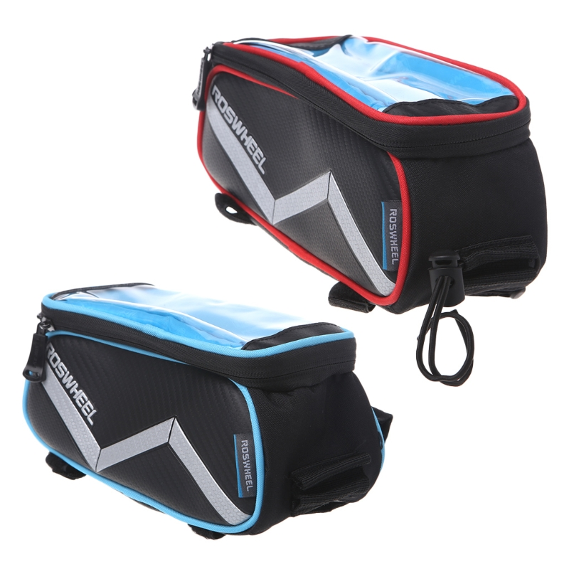 "6.2"" Cycling Bike Touch Screen Bag Bicycle Case Holder iPhone Mobile Phone GPS"