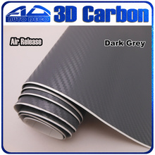 3d Dark Grey Car Sticker Carbon Fiber Vinyl Film Air Channel FedEx Size: 1.52*30m/Roll - Auto Deco Co., Ltd store