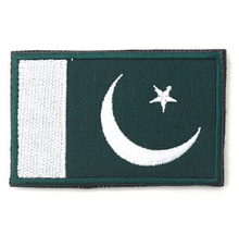 Pakistan flag the patch 3D stickers Personality Embroidery design badges customized for clothes clothing Hook/Loop 8*5CM
